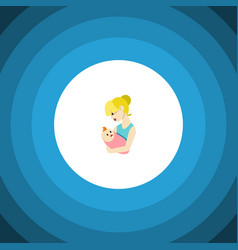 Isolated newborn baby flat icon parent vector