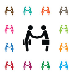 Isolated partnership icon handshake vector