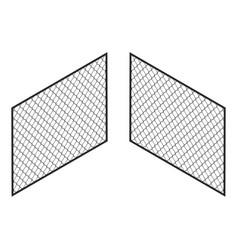 isometric fence isolated on white iron gate vector image