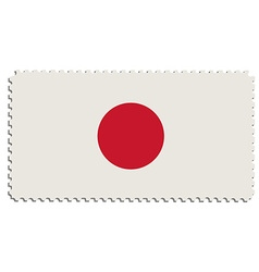 Japanese flag post vector image