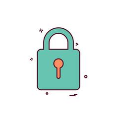 keyhole lock safe icon design vector image