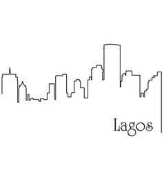 lagos city one line drawing vector image