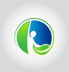 logo design for health care vector image