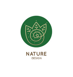Logo spiral forest vector