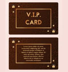 Luxury visiting card vip cutaway vector
