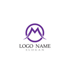 m letter logo business template vector image