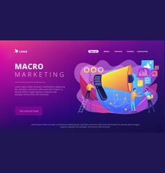 macromarketing concept landing page vector image