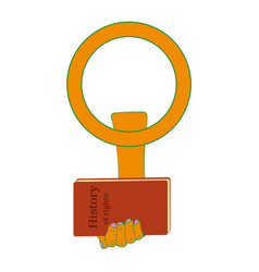 march 8 holiday female gender symbol of protest vector image