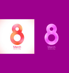 march 8 - womens day paper design of greeting card vector image