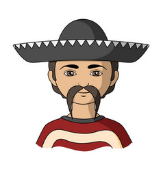 Mexicanhuman race single icon in cartoon style vector