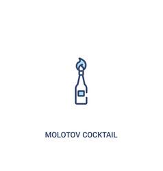 Molotov cocktail concept 2 colored icon simple vector