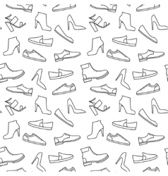 monochrome shoe pattern vector image