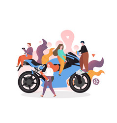 motorcycle service concept for web banner vector image