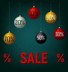 new year christmas sale banner poster template vector image