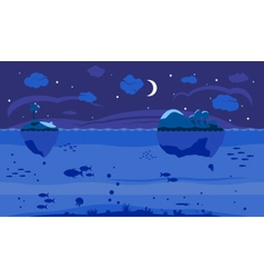Night Sea Game Background vector