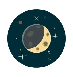 Planet earth in space icon cartoon style vector image