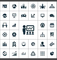 presentation icons universal set for web and ui vector image