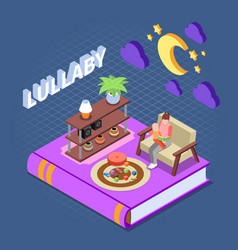reading isometric concept vector image