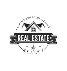 Real estate logo with a modern and simple vector