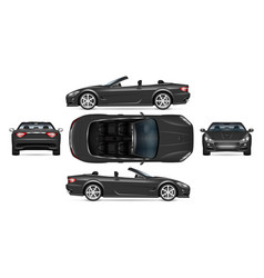 Realistic cabriolet car vector