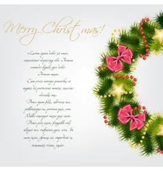 Realistic christmas wreath vector
