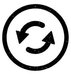 Refresh CCW Icon Rubber Stamp vector