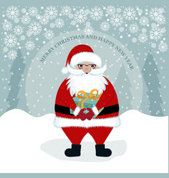 santa with present vector image