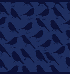 seamless texture with silhouettes of birds vector image
