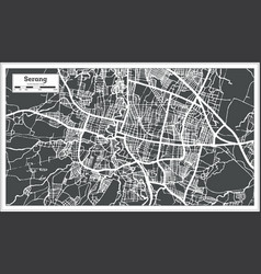 Serang indonesia city map in retro style outline vector