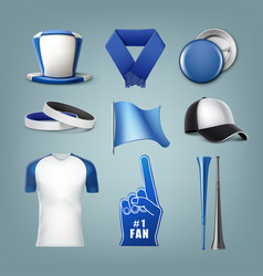 set of fans acessories vector image