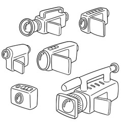 set of video camera vector image
