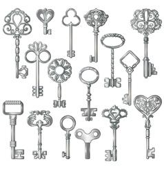 Silver Keys Set vector