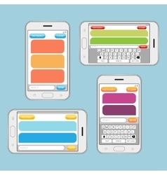 Smartphone chatting sms messages speech bubbles vector image