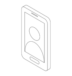 Smartphone icon isometric 3d style vector image