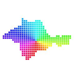 Spectral dot crimea map vector