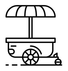 Street shop trailer cart icon outline style vector
