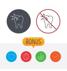 Toothache icon Dental healthcare sign vector