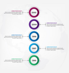 vertical timeline infographic design template vector image