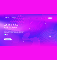 website landing page science backdrop template vector image
