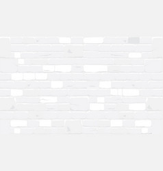 white bricks wall texture background vector image