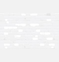 White bricks wall texture background vector