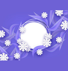 winter natural banner with vector image