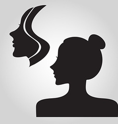Woman logo silhouette vector image