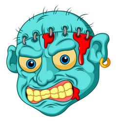 Zombie head cartoon vector