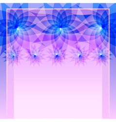Abstract blue background with flowers vector image vector image