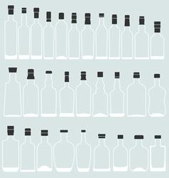 Empty bottle shape vector image
