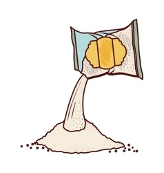 Isolated sugar bag design vector image vector image