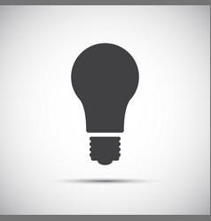 light bulb icon isolated on white background vector image vector image