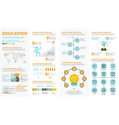school education infographic elements vector image