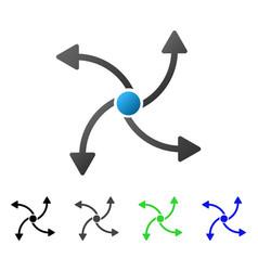 Swirl direction flat gradient icon vector